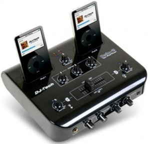UMix 2 Dual iPod DJ Mixer also builts in cross fader slider, ...