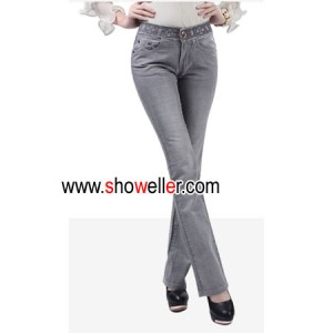 low waist style women lady jeans gold wire embroider jeans W-807A