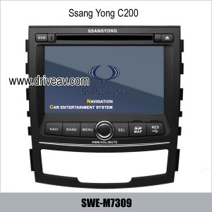 SsangYong C200 OEM stereo radio auto dvd player gps navigation TV SWE-S7309