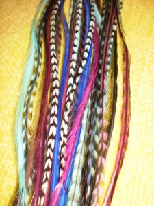 Natural grizzzly rooster feathers for hair extension