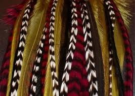 Grizzly rooster feather for hair extentions.  Specifications  SPECIAL: Short Natural Value Pack - 3 cards Limited supply. Order