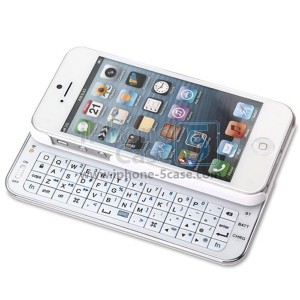 Ultra-slim Slide Wireless Bluetooth Keyboard Hard Case with Backlight for iPhone 5