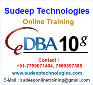 ORACLE DBA 10G Online Training