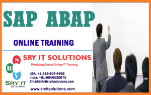SAP ABAP ONLINE TRAINING | SRY IT SOLUTIONS