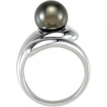 Pearl Bypass Ring in Sterling Silver