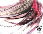 Best quality grizzly rooster feather hair extension