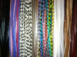 Grizzly rooster feathers for hair extension